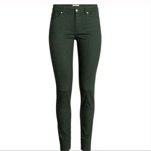 🆕H&M skinny deep teal/green jeans